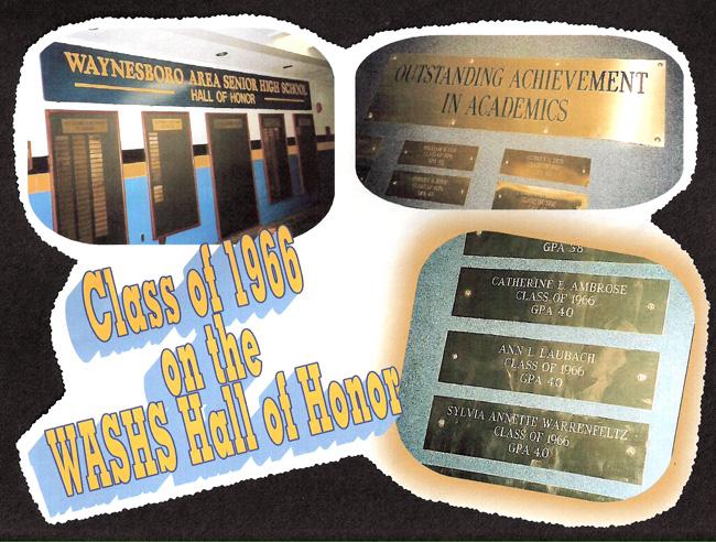 Class of 66 Wall of Fame